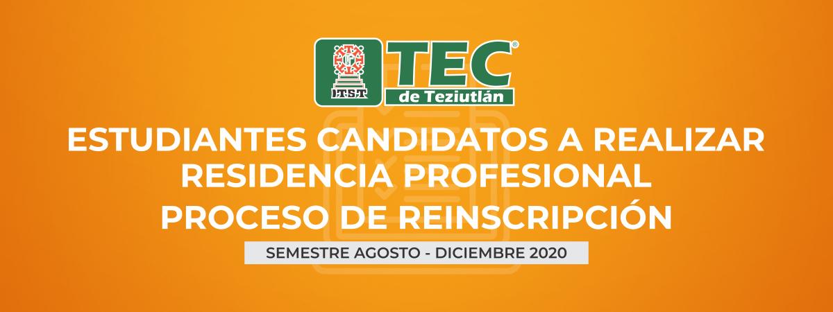 Residencia Profesional Agosto - Diciembre 2020